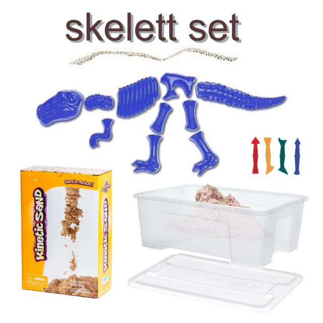 Kinetic Sand Skelett Set Dino - Kugelknete.de